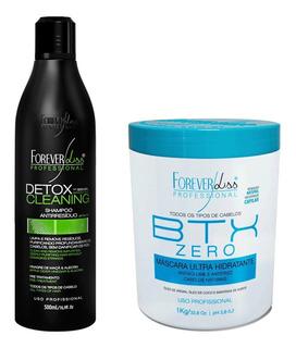 Kit Alisamento Forever Liss Btox Zero 1k E Shampoo Detox