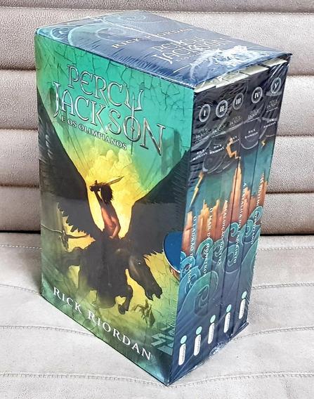 Box 5 Livros Percy Jackson Olimpianos Série Completa Lacrado
