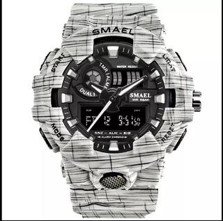 Reloj Militar Smael Camuflado Sumergible
