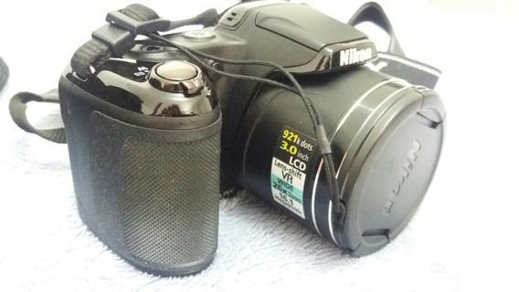 Câmera Semi Profissional Usada 16.1 Mp + Acessórios! Venda!