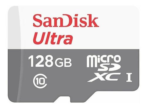 Imagen 1 de 3 de Memoria Micro Sd 128 Gb Sandisk Ultra 80mbs Con Adaptador Sd