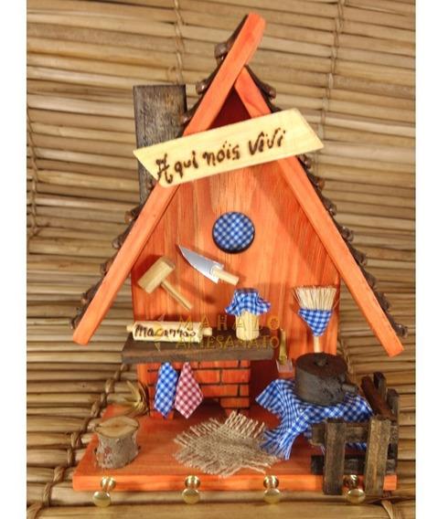 Porta Chaves Casa Holandesa Parede Decoração Madeira Cozinha