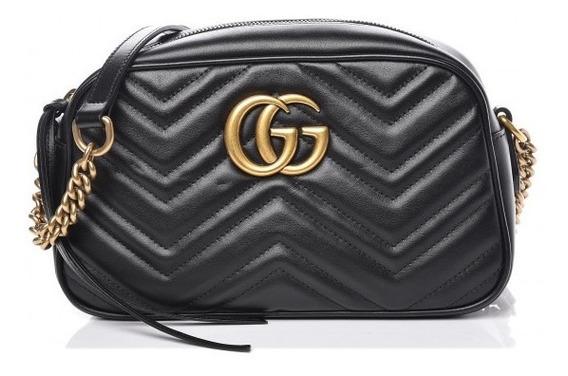 Bolsa Gucci Marmont Gg Couro Legitimo C/ Código Mini
