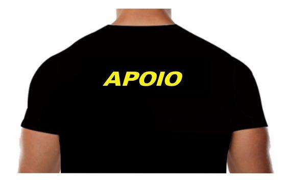 Camisa Malha Fria Pv Preta Estampa Apoio