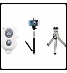 Pau De Selfie Mini Tripé De Celular Com Controle Bluetooth