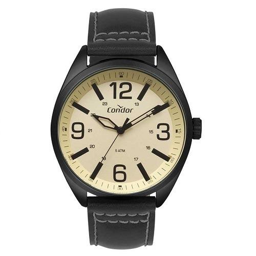 Relógio Condor Masculino Analógico Couro Preto Original