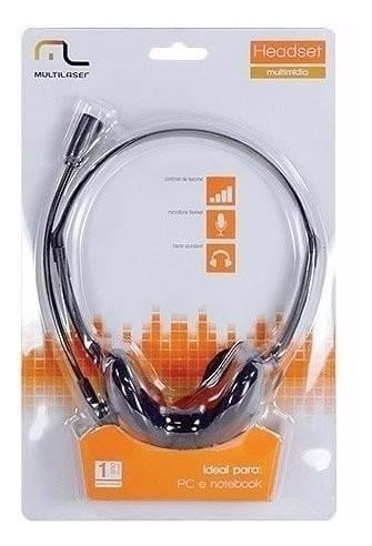 Fone De Ouvido Multilaser Headset Com Fio Microfone Ph002