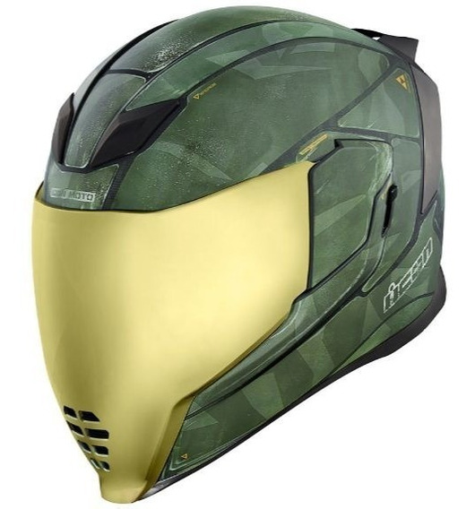 Casco Para Moto Icon Halo Airflite Battlescar 2 Con Lente