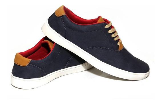 Tenis Masculino Azul Marinho Sapato Pronta Entrega