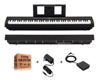 Piano Electrico Digital Yamaha P45 De 7 Octavas 88 Teclas Con Accion Martillo Con Fuente Color Negro Y Envio Gratis