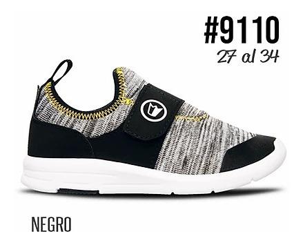 Zapatillas Gris Urbanas Velcro Prowess 27/34 Art 9110