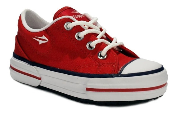 Zapatillas Topper Nova Low Kids Urbana Clásica Colegial