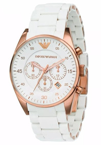 Relógio Unissex Emporio Armani Ar5919 Branco Rose 43mm