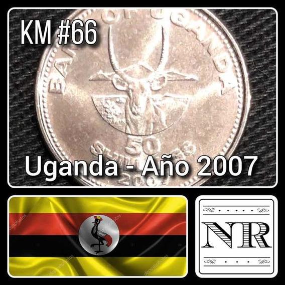 Uganda - 50 Shillings - Año 2007 - Km # 66 - Africa - Ñu