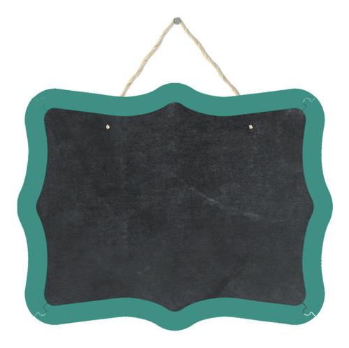 Pizarrón Pizarra Decorativa Cuadro Arabesco Verde Turquesa