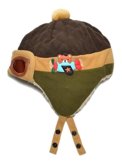 Touca Gorro Aviador Piloto Bebê Infantil Criança Luxo $ $ $
