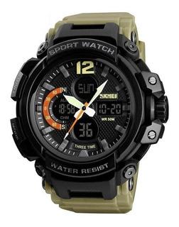 Reloj De Pulsera Skmei 1343 Analogico Y Digital Wr50m