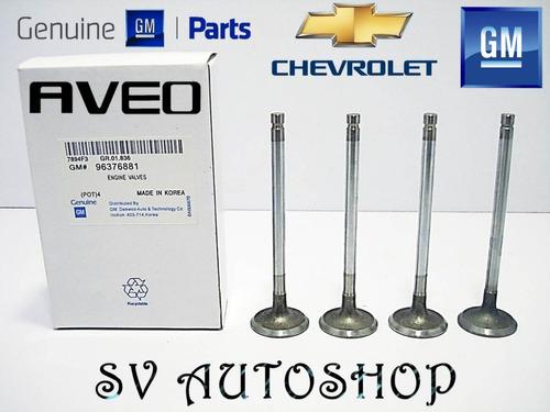 Juego Cuatro Valvula Admision Chevrolet Aveo 1.6 96376881