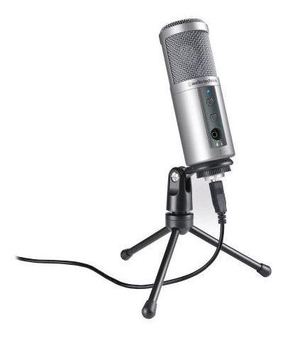 Microfone Usb Podcast Live Stream Audio Technica Atr2500usb