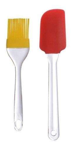 Imagen 1 de 8 de Juego Espátula Brocha Silicon Mango Plástico 5 Juegos