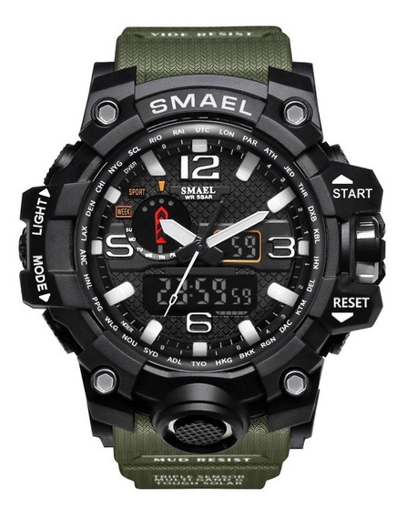 Reloj Pulsera Smael Impermeable De Cuarzo Para Hombre C/caja