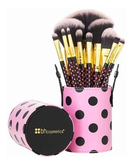 Set 11 Brochas Pink A Dot Bh Cosmetics Incluye Estuche