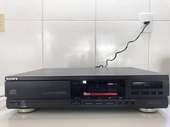 Cd Player Sony Cdp-m36-vendo No Estado Em Que Se Encontra, Para Ser Restaurado Ou Aproveitar Peças