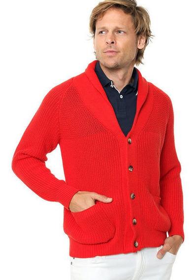 Campera Cardigan Iconic Red Burgues ( Últimos En Stock)