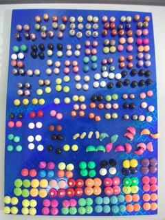 Zarcillos D/pasta Variadas Formas Tabla Completa 159 Unid