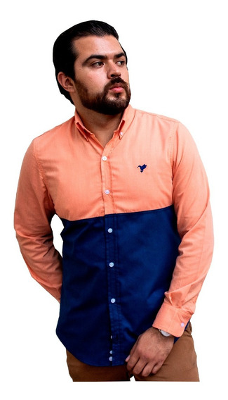 Camisa Hombre Piero Biani Moda Casual Manga Larga