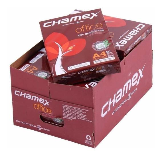 Papel Sulfite A4 Chamex Office 5000 Folhas Cx C/ 10 Resmas
