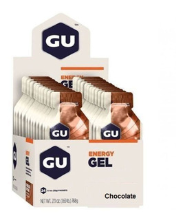 Energy Gel - Sabor Chocolate 24 Sachês 32g - Gu