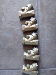 Valvula Check Columpio 1/2 Bronce Remate Lote 10pz