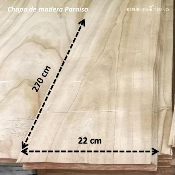 Chapa Madera Paraíso Largo 2.60 A 3m 1ra Calidad Ver Ancho