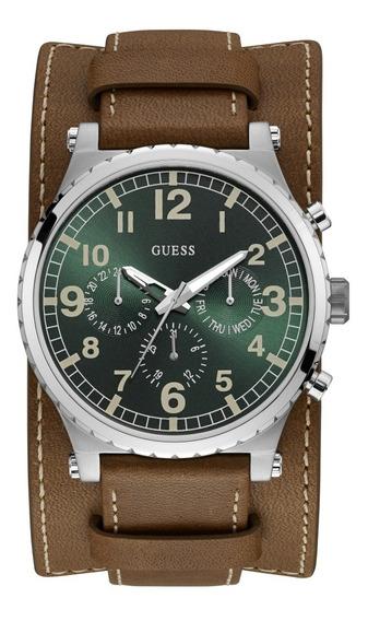 Relógio Masculino Guess Couro 92735g0gtnc1 C/ Garantia E Nf