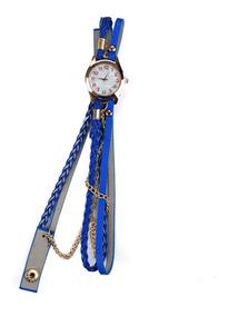 Relógio Feminino Super Luxo Pulseira Ecológica Joia Dourada