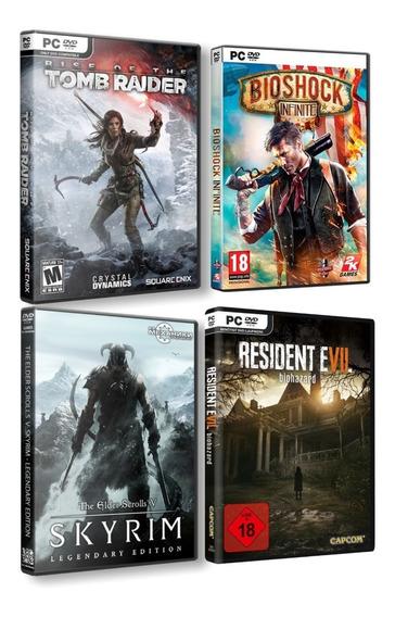 Combo Rise Of Tombraider + Skyrim + Bioshock Infinite + Res7