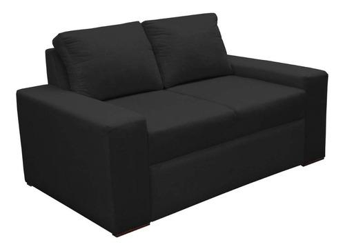 Imagen 1 de 2 de Sofa Chicago 3 Puestos Tela Negro