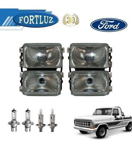 Imagem 1 de 1 de Farol Principal Ford F1000 85 A 92 Original Fortluz Kit 2un