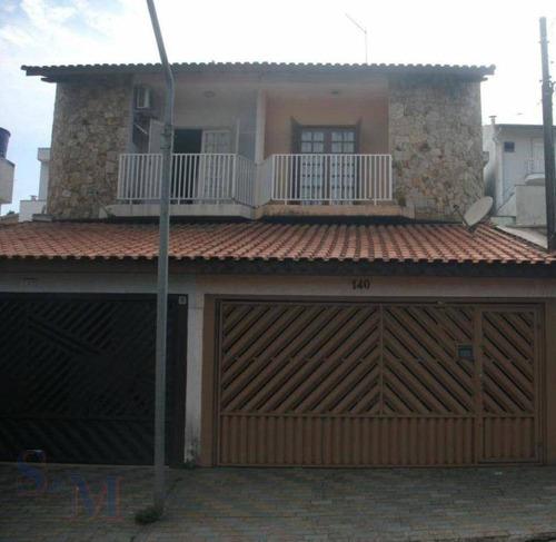 Imagem 1 de 11 de Sobrado Com 3 Dormitórios À Venda, 145 M² Por R$ 465.000,00 - Parque Erasmo Assunção - Santo André/sp - So0315