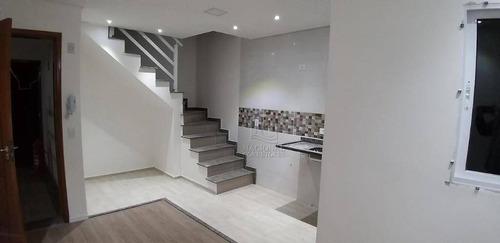 Cobertura Com 2 Dormitórios À Venda, 104 M² Por R$ 370.000 - Vila Cecília Maria - Santo André/sp - Co5483