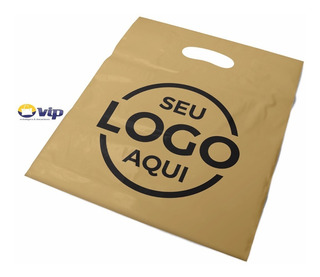 Sacola Personalizada Plastica 30x40 Alça Boca Palhaço 250un