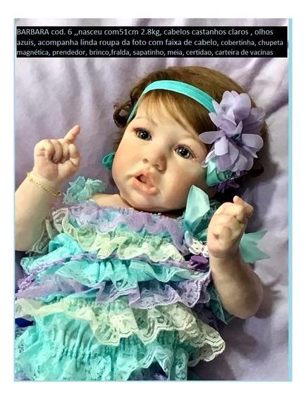 Boneco Reborn Barbara 6(só Envio Por Expresso)