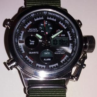 Reloj De Hombre Marca Golden Hour Analogo Digital.