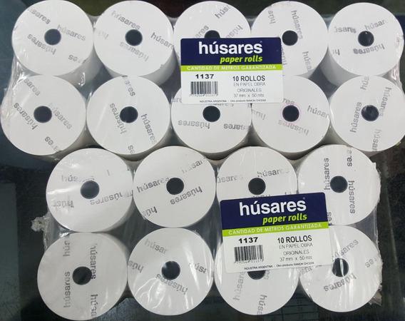 Rollo Papel Husares 1137 37mm X 50 Mts Impresora Fiscal