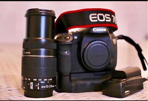 Canon 7d Filmadora & Maquina Fotográfica Lente 55x250mm