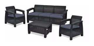 Sala D Lujo Tipo Rattan 4pzas Lounge, Terraza, Patio, Jardín