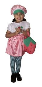 ed7e03ddc Disfraz De Frutillita Para Niña - Strawberry Shortcake