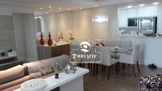 Apartamento Com 3 Dormitórios À Venda, 115 M² Por R$ 750.000,00 - Vila Valparaíso - Santo André/sp - Ap13908