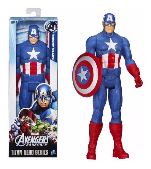 Muñeco De Capitán América Titan Hero Hasbro 30cm
